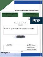 Audit Du Cycle Trésorerie CESAG