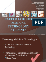 Career Path for Medical Technology Students