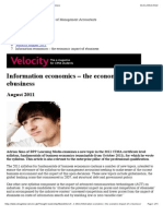 Information Economics – the Economic Impact of Ebusiness