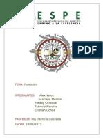 Informe Fundicion Tecno Medina Mora Ochoa Cordova Veloz