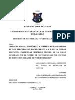 Impacto Social, Económico y Político de la implementación de las cocinas de inducción en Cuenca-Ecuador (Colegio La Salle)