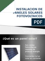 Instalacion de Paneles Solares Fotovoltaicos
