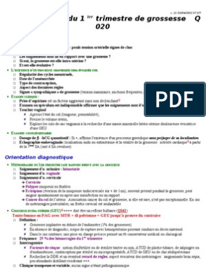 Datation de l'endomètre PPT
