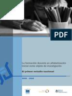 La Formacion Docente en Alfabetizacion Inicial Como Objeto de Investigacion