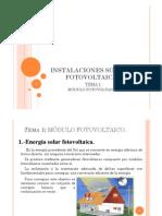 Tema 1 Módulos Fotovoltaicos