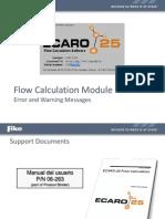 E - 2011 ECARO-25 Flow Calc Esp 2014
