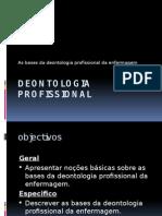 as bases de deontologia de enfermagem