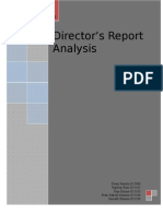 Final Director Report Analysis- Group H