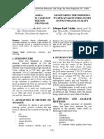 MONITORIZAREA INDICATORILOR DE CALITATE A APEI POTABILE