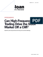 Can High-Frequency Trading Drive the Stock Market Off a Cliff