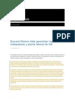 07-10-2015 Grupo Fórmula - Buscará Moreno Valle Garantizar Ingresos a Trabajadores y Planta Laboral de VW