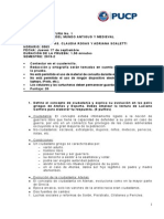 Pautas Corrección Primer Control de Lectura 2015-2