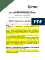 Pautas Examen Parcial His. Ant. y Medieval 2015-2