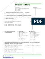 statistics worksheets stem-leaf-plots
