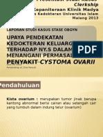 kista ovarium dan pendaraha dan kedokteran keluarga