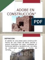 El adobe en construcción