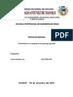 Informe de Gabinete de Geologia