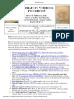 Notebook Procedure