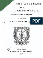 Julian the Apostate & the Duke of Mercia - Sir Aubrey de Vere 1858