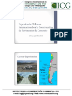 Experiencia Chilena e Internacional en La Contruccion de Paviemnto de Concreto