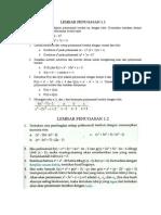 Lembar Penugasan 1 Polinomial