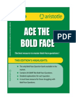 Ace the Bold Face Sample Copy
