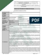 Infome Programa de Formación Titulada(GESTION Y SEGURIDAD de BD)