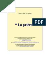 Mauss La Priere