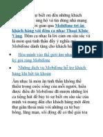 Tri Ân Khách Hàng Mobifone Với Chương Trình Tình Khúc Vàng
