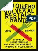 No Quiero Volver Al Restaurante! de Como La Cocina Molecular-207pag