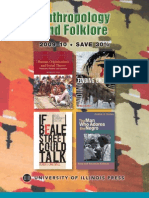 University of Illinois Press Fall 2009 Anthropology and Folklore Book Catalog