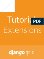 Django Girls Tutorial Extensions