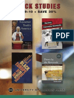University of Illinois Press Fall 2009 Black Studies Book Catalog