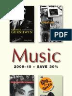 University of Illinois Press Fall 2009 Music Book Catalog