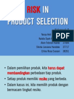 Risk in Product Selection