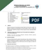 Silabo Mecanica de Suelos II 2015 I