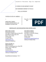 Request for continuance in John Wiley Price case