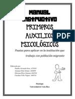Manual Instructivo Sobre Primeros Auxilios Psicológicos