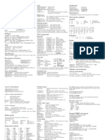 LaTeX 2e Cheat Sheet