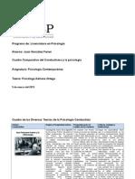 Cuadro Comparativo Del Conductismo y La Psicología