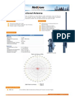 Datasheet 5.8GHz 12dBi Omnidirectional Antenna Spanish