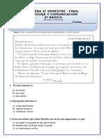 Prueba de Diagnostico Final Lenguaje 2º Básico