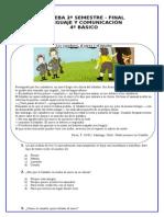 prueba de diagnostico final de lenguaje 4° Básico