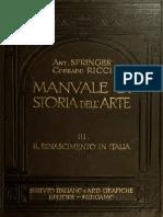 Manuale di storia dell'arte vol. III - Il Rinascimento in Italia