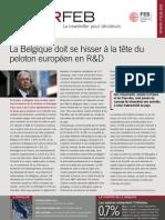 La Belgique doit se hisser à la tête du peloton européen en R&D, Infor FEB 11, 18 mars 2010
