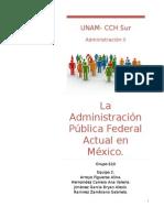 La Administración Pública Federal Actual en México