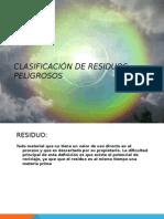 Clasificacion de Residuos Peligrosos Codigo Cretib