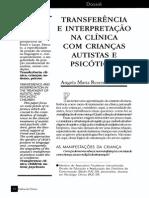 Interferencias Transferência Clinica Crianças Psicóticas