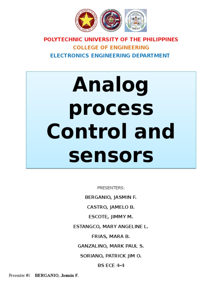 Analog Process Control and Sensors | Control Theory | Actuator