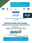 Manual Instalator Apa Canal